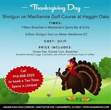 thanksgiving day shotgun on the mackenzie golf course haggin oaks