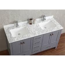 Buy Vincent  Inch Solid Wood Double Bathroom Vanity In Charcoal - Bathroom wood vanities solid wood