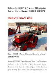 kubota b1550 hst d tractor illustrated master parts manual instant do u2026