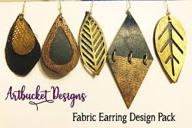 earring design fabric earring design pack of 7 stacked designs by artbucket