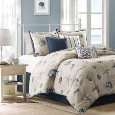 Blue And White Comforters Hawaiian Coastal Beach And Tropical Bedding Oceanstyles Com