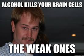 Memes About Alcohol - alcohol kills your brain cells the weak ones misc quickmeme