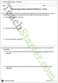 word problem worksheets year 5 and year 6 teaching resource