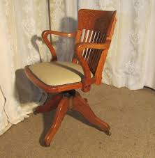 edwardian arts and crafts swivel oak desk chair antiques atlas