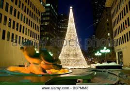 Cheap Christmas Decorations In Montreal by Christmas Decorations And Tree Montreal Quebec Canada Stock