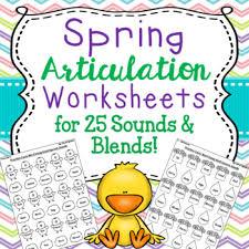 spring print u0026 go articulation worksheets for 25 sounds u0026 blends