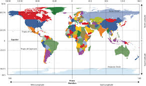 Africa Time Zone Map by 1 1 Geography Basics World Regional Geography People Places