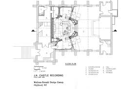 Recording Studio Floor Plan by J A Castle Recording Studio Wsdg