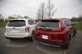 subaru forester vs honda crv 2017 honda cr v vs 2017 subaru forester autoguide com