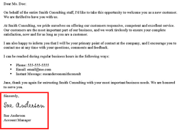 Casual Business Letter Closings How To Write A New Customer Welcome Letter