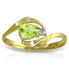 peridot engagement rings 14k soli gold ring with diamond peridot
