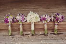 rustic wedding bouquets a purple rustic wedding grace
