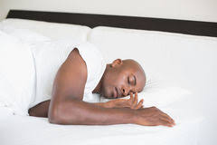 Man Sleeping In Bed Side View Of A Man Sleeping In Bed Stock Photo 37190779 Megapixl