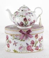 roses teacups tulip porcelain teapot in gift box roses and teacups tea