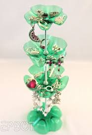 reuse plastic bottles and make enchanting jewelry stand kid