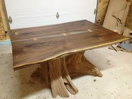 custom dining room tables hand made live edge black walnut dining