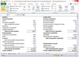 Excel Balance Sheet Template Free Free Balance Sheet Excel Template For Financial Reports