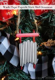 the craft patch popsicle stick sled ornament with washi