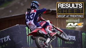 motocross race results results sheet 2017 mxgp of trentino motocross feature stories