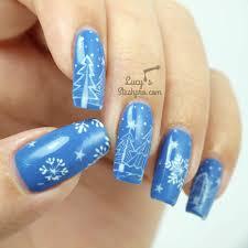 snowy trees gel polish nail art tutorial lucy u0027s stash pro
