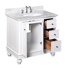 Bella Lux Bathroom Accessories by Kitchen Bath Collection Kbc2236wtcarr Bella Bathroom Vanity With