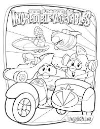 veggietales moe and the big exit coloring page u2014 allmadecine