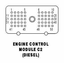 03 dodge cummins ecm pin layout diagram color code of wires to