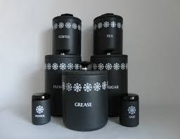 Vintage Kitchen Canisters 28 Black And White Kitchen Canisters 1000 Images About