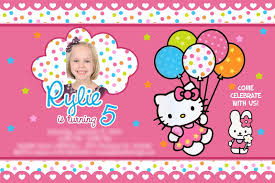 Birthday Invitation Card Maker Hello Kitty Birthday Invitations Kawaiitheo Com