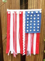 Maroon And White Flag How To Create A Patriotic Felt Ribbon U0026 Lace Flag U2013 Kunin Felt