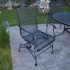 Woodard Patio Furniture Reviews - amazon com belham living stanton wrought iron coil spring dining