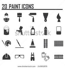 painting icons stock vector 135551051 shutterstock