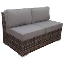 Grey Wicker Patio Furniture by Grey Weston Outdoor Wicker Loveseat At Home At Home