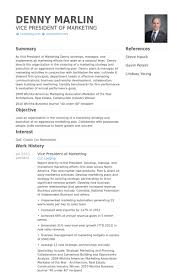 Example Of A Marketing Resume Vice President Of Marketing Resume Samples Visualcv Resume