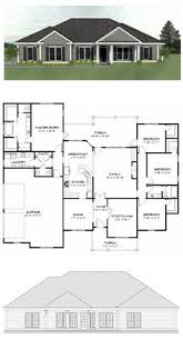 4 Bedroom Floor Plans For A House Plan Sc 2700 960 4 Or 5 Bedroom 3 Bath Home With A 3 Car