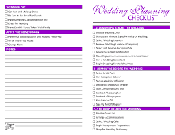 wedding todo checklist wedding list