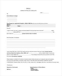 ideas of sample complaint letter format to police station on