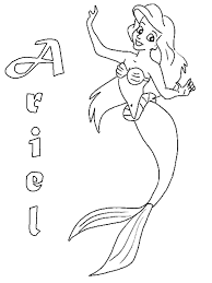 mermaid ariel coloring pages free coloring pages kids
