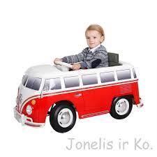 volkswagen camper elektromobilis 6v volkswagen camper van bus in red žaislai