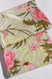 Upholstery Fabric With Birds Soft Washed Cotton Upholstery Slipcover Fabric Tropical Flowers