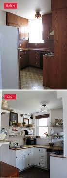 small kitchen makeover ideas on a budget before and after customed cabinet door in this kitchen