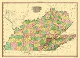 Map Of Indiana And Illinois by Old Map Kentucky Tennessee Part Of Illinois 1823