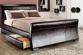 Sleigh Bed With Storage Venetian Storage Sleigh Bed With Optional Memory Or Spring Mattress