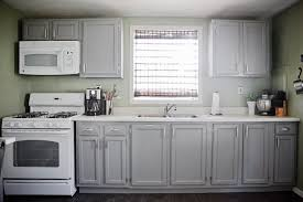 gray cabinets green walls white appliances cabinets are painted