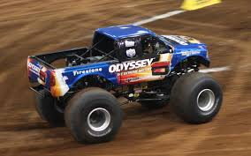 monster trucks bigfoot bigfoot monster truck wears odyssey battery colors truck trend news