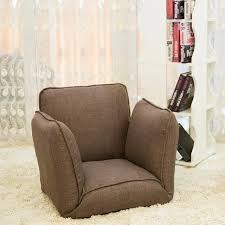 upholstered living room furniture floor folding single sofa chair japanese seating living room