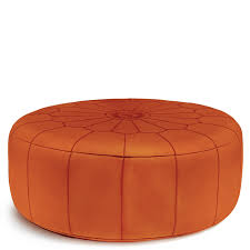 Brown Leather Bean Bag Chair Giant Leather Moroccan Pouf Modern Furniture Jonathan Adler