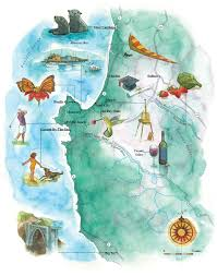 Watercolor Florida Map by Watercolor Maps By Steven Stankiewicz At Coroflot Com