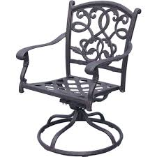 Swivel Outdoor Chair Darlee Santa Monica 7 Piece Cast Aluminum Patio Dining Set With