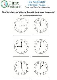 teachers worksheets clocks pics directions draw the hands of